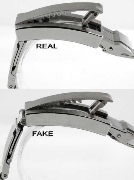 Rolex DEEPSEA Real vs Fake Clasp & Buckle Detail