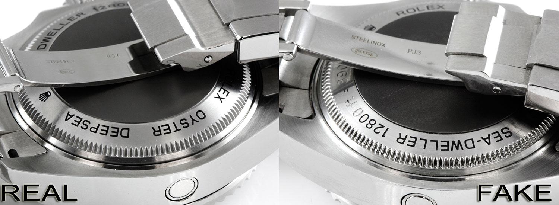 Rolex Deepsea Real Vs Fake Case Back Detail