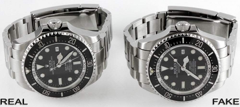 Rolex Sea-Dweller DEEPSEA Fake Vs. Real Comparison 116660 ...