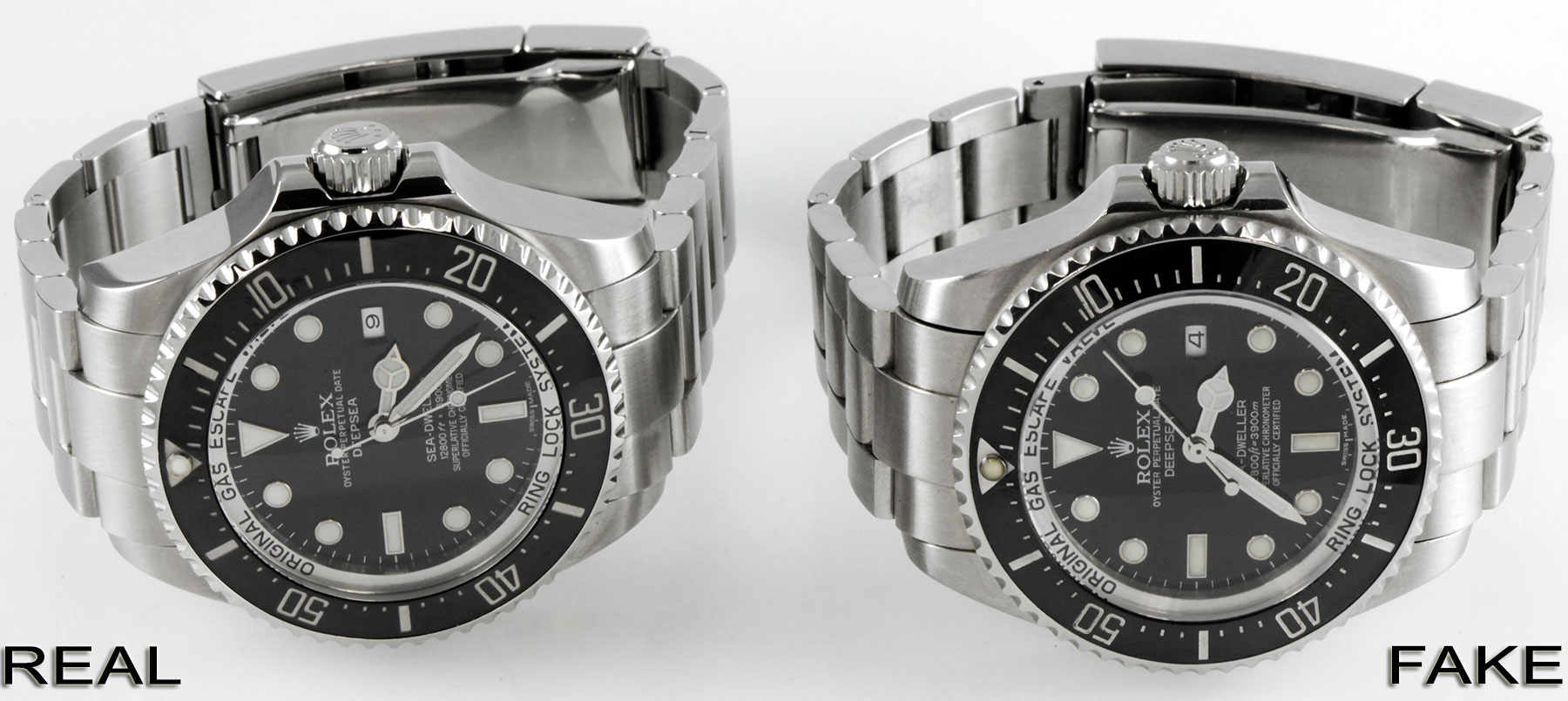 Rolex Sea Dweller Deepsea Fake Vs Real Comparison 116660
