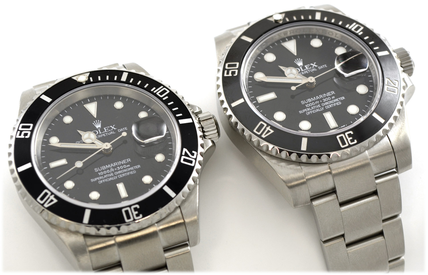 Rolex Submariner 116610 vs 16610 Comparison  Bernard