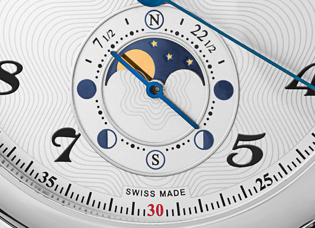 Montblanc Star Twin Moonphase Moon Closeup