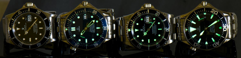 Submariner vs. Seamaster Luminosity