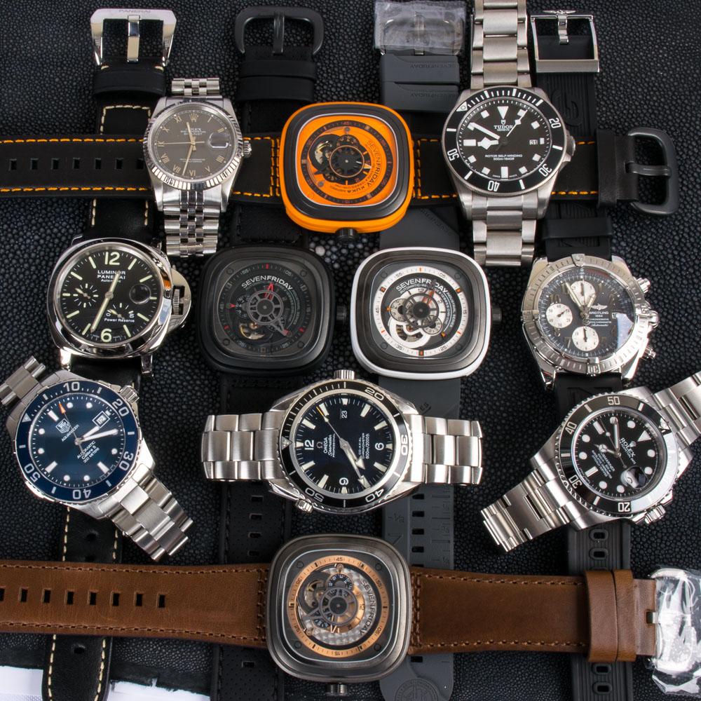 4 SevenFriday x 2 Rolex x Panerai x TAG x Tudor x Breitling