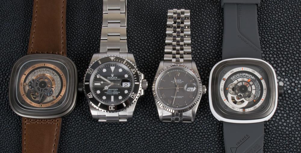 SevenFriday x Rolex Submariner 116610 and Datejust 16234
