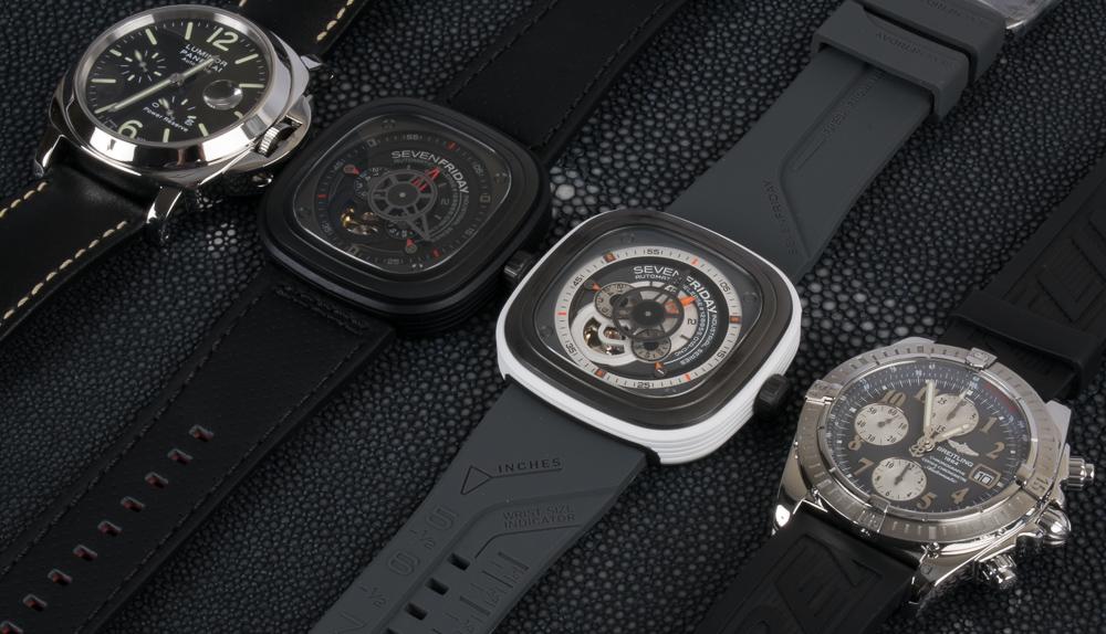 SevenFriday x Panerai Luminor 44mm x Breitling Chronomat Evolution