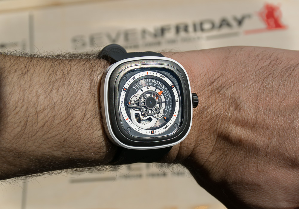 SevenFriday P1-B1 on a 6.6 inch wrist