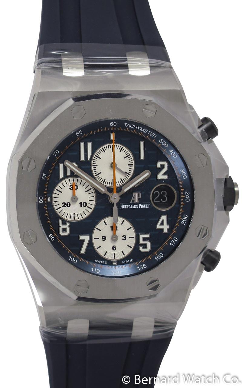 Audemars piguet royal oak offshore chronograph 39 navy 39 26470st oo bernard watch for Royal oak offshore navy