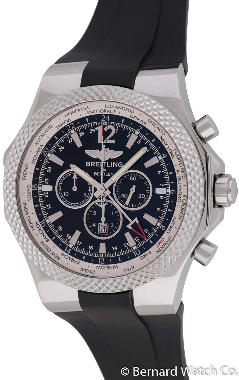 domed chronograph both power crystal features sides watch edition and breitling sapphire ar dark coated an gt the on a ablogtowatch additionally bentley impressive hour
