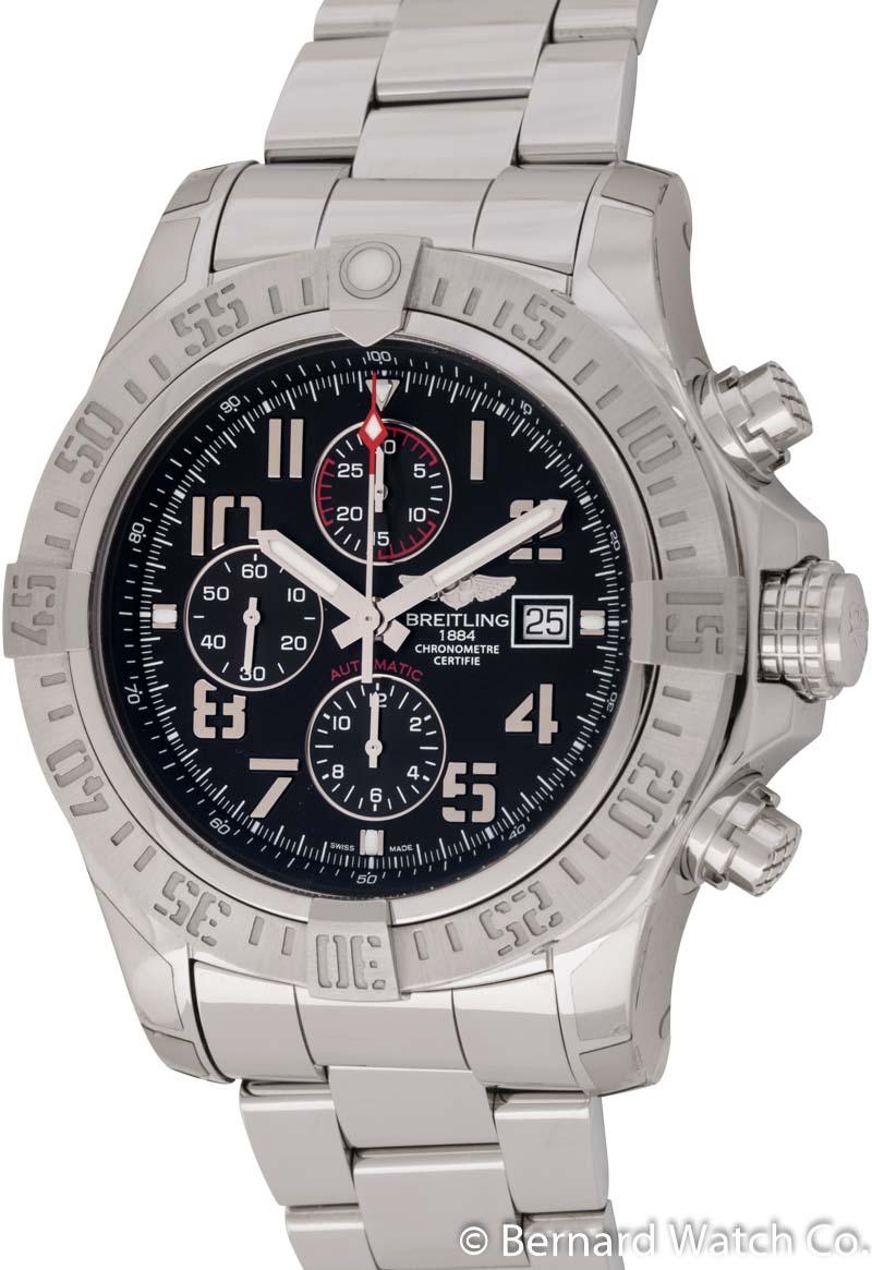 Breitling super avenger ii chronograph a13371 bernard watch for Avenger watches