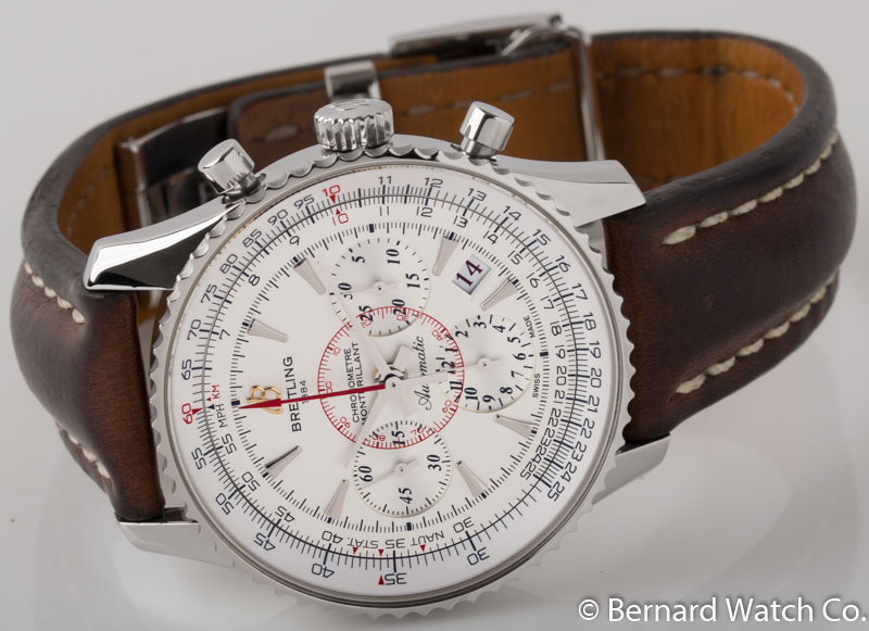 Front view of Montbrilliant 01 Limited Edition showing silver dial