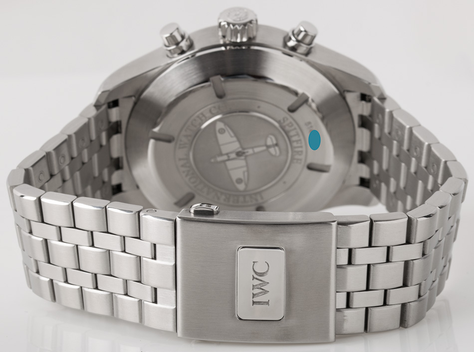 Rear shot of Spitfire Flyback Chronograph with Stainless Steel