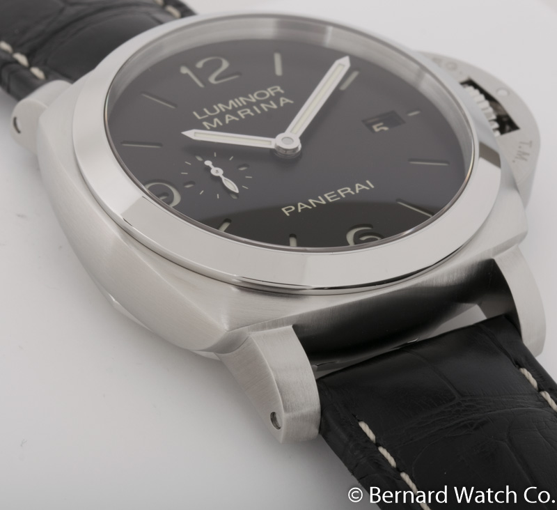 Side angle of Luminor 1950 3 Days Automatic