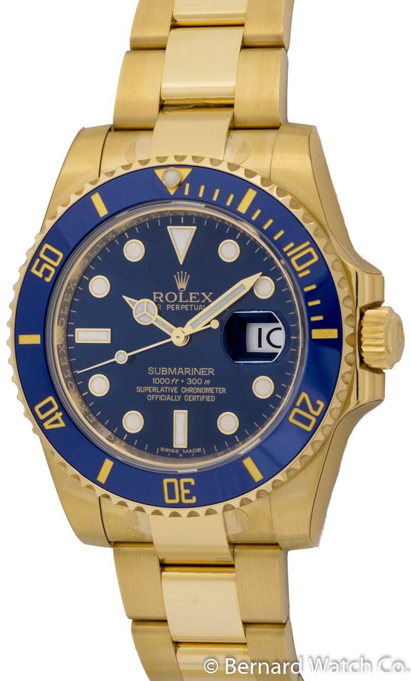 rolex submariner date 116618lb bernard watch. Black Bedroom Furniture Sets. Home Design Ideas