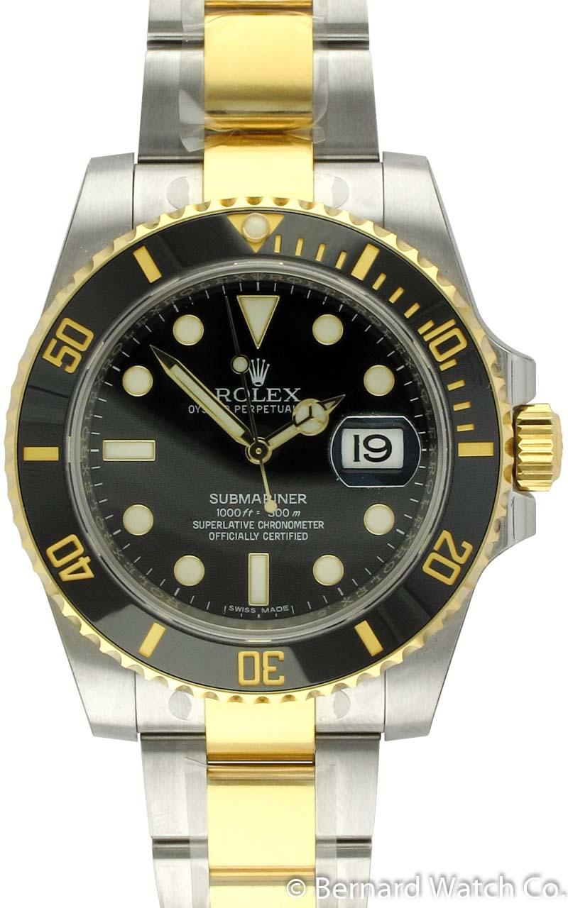 rolex submariner date 116613ln bernard watch. Black Bedroom Furniture Sets. Home Design Ideas