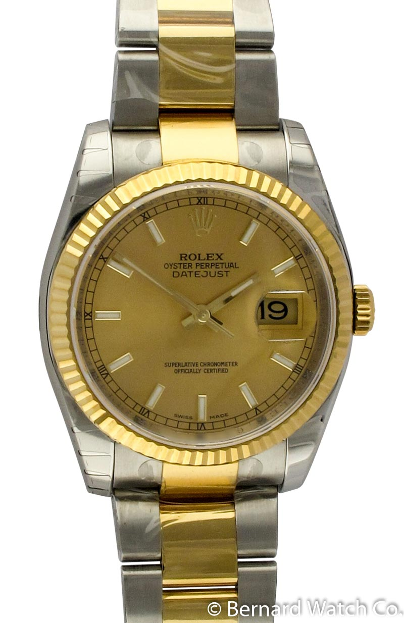 rolex oyster bracelet for sale rolex datejust 116233 chagne on oyster 2136