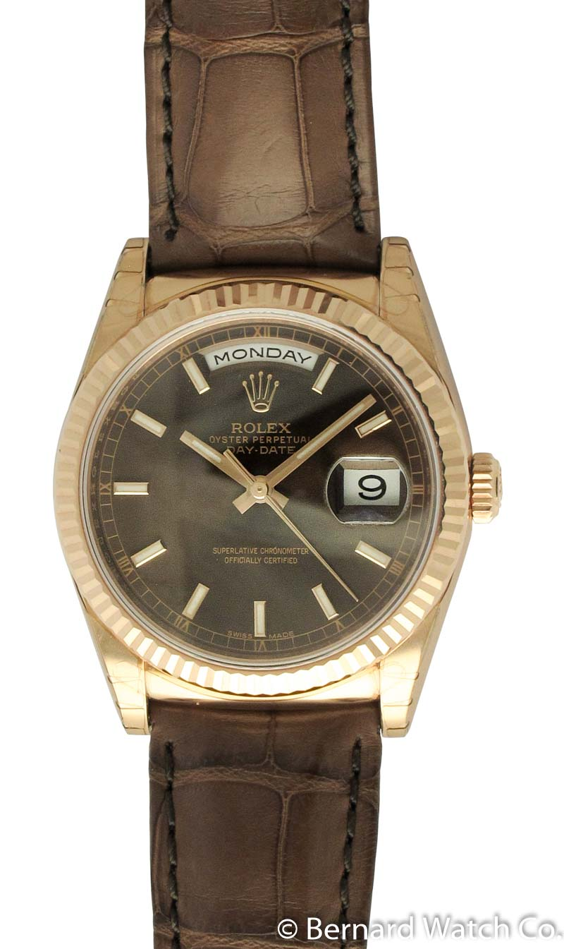 c81b8aa5c73 Rolex - Day-Date President   118135   SOLD OUT   chocolate brown ...