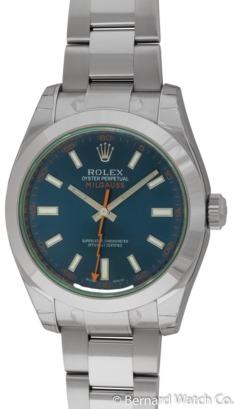 Rolex milgauss 116400gv bernard watch for Rolex milgauss