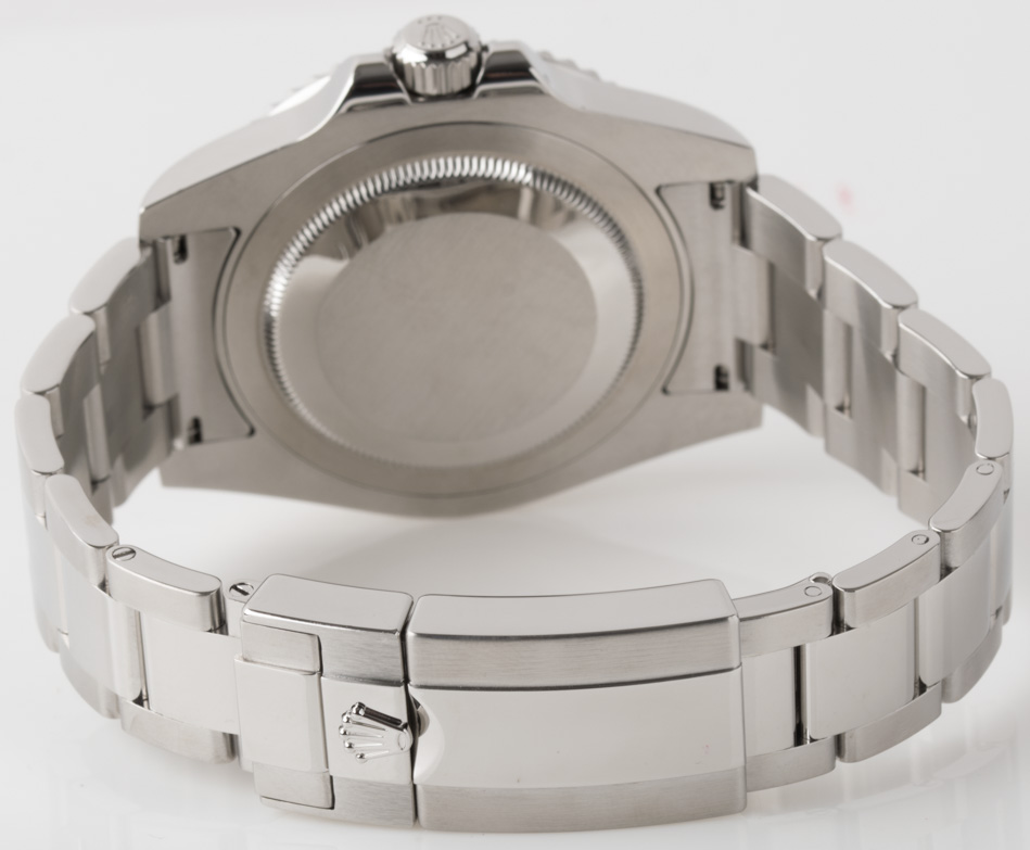 Rear shot of GMT-Master II with Heavy Oyster bracelet (SEL)