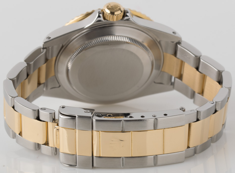 Rear shot of Submariner Date with 18k Gold & Stainless Steel Heavy Oyster bracelet (SEL)