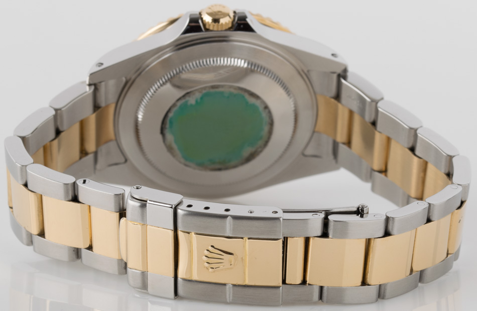 Rear shot of GMT-Master II with 18k Gold & Stainless Steel Heavy Oyster bracelet (SEL)