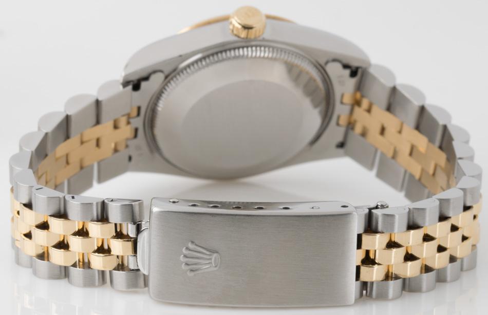 Rear shot of Datejust Midsize with 18k Gold & Stainless Steel Jubilee bracelet