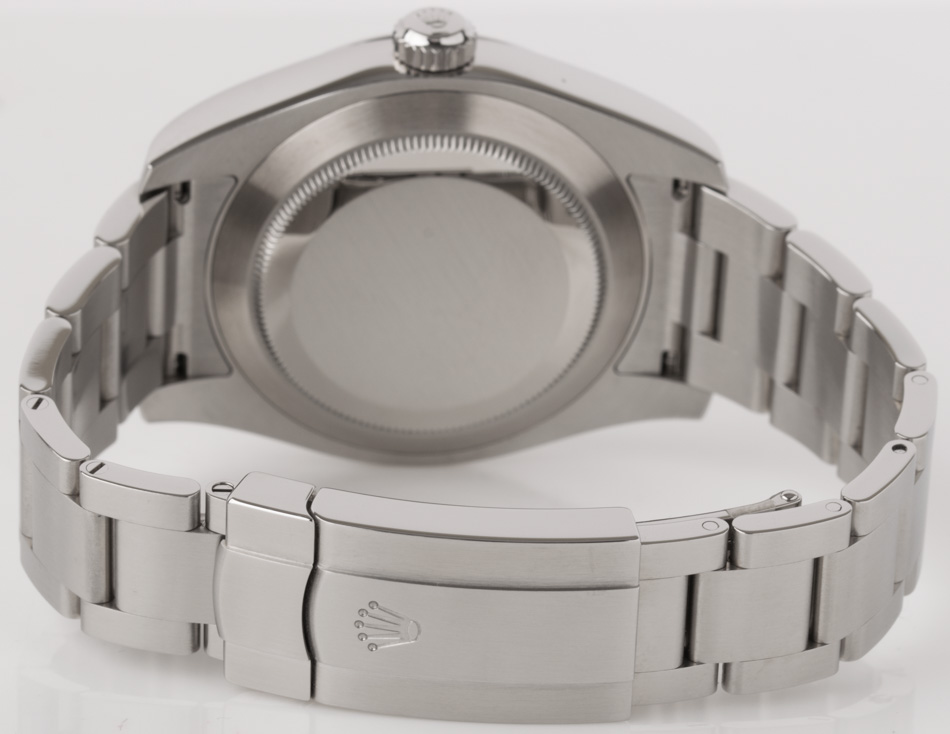 Rear shot of Air-King 40MM with Heavy Oyster Bracelet (SEL)