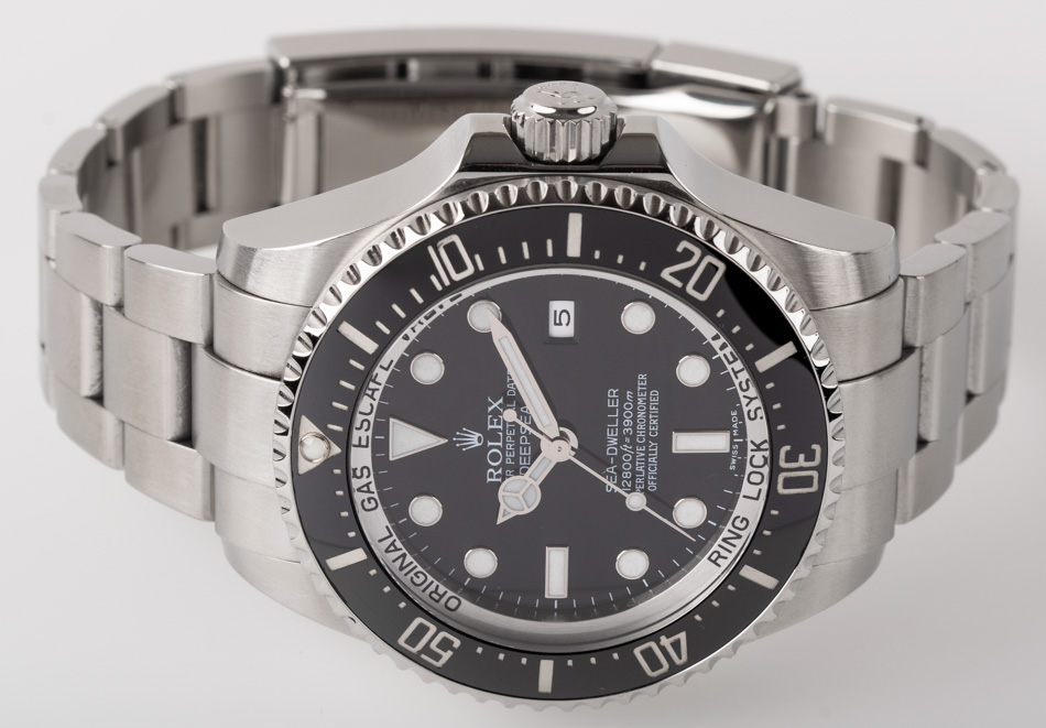 Front view of Sea-Dweller DEEPSEA showing black dial