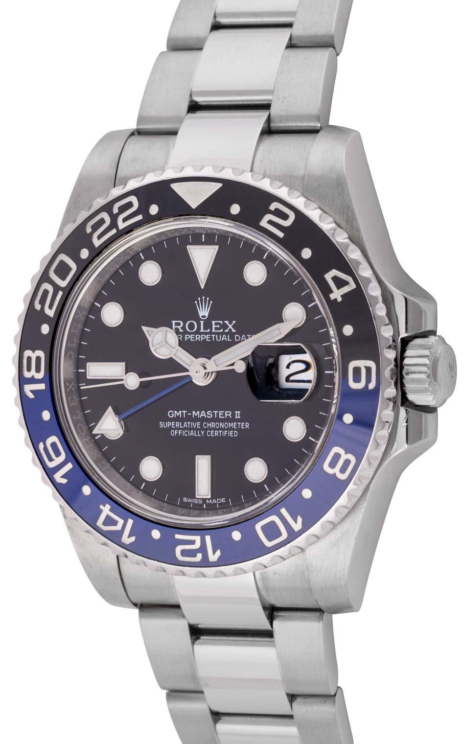 29a3bea475c Rolex GMT-Master II BLNR  Batman    116710BLNR