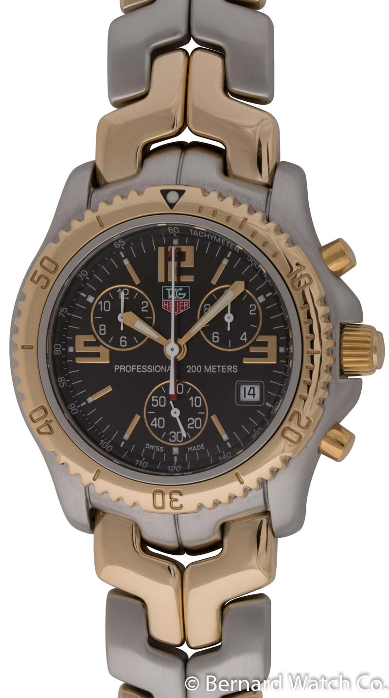Tag heuer link chronograph ct1150 bernard watch for Tag heuer d link