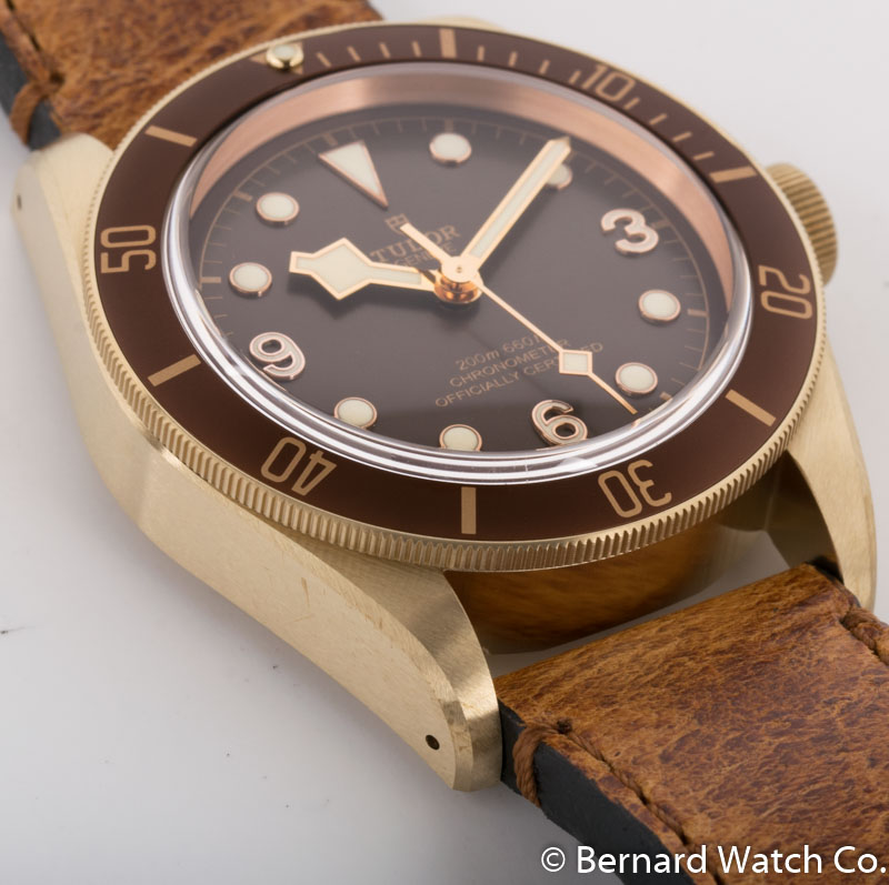 Side angle of Heritage Black Bay Bronze