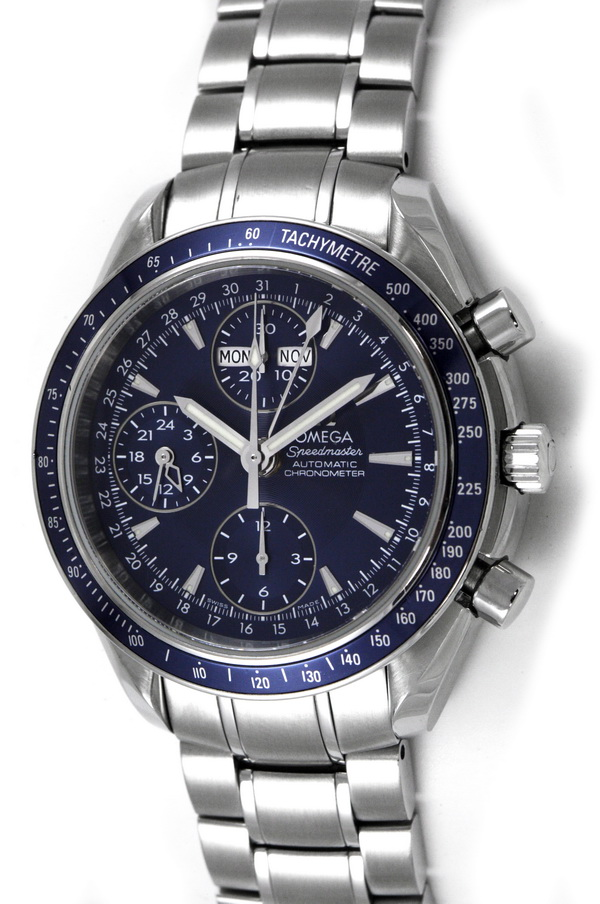Omega Speedmaster Day-Date Stainless Steel Automatic Chronograph Watch 3528000