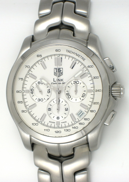 c7b1bb65662 TAG Heuer - Link Calibre 36 Chronograph : CT511B.BA0564 : SOLD OUT : silver  dial